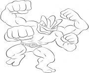 Printable 068 machamp pokemon coloring pages