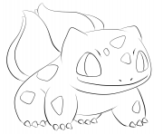 001 bulbasaur pokemon coloring pages