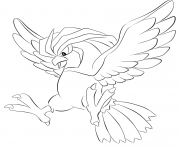 Printable 017 pidgeotto pokemon coloring pages