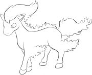 Printable 077 ponyta pokemon coloring pages