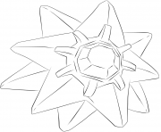 Printable 121 starmie pokemon coloring pages