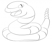 Printable 023 ekans pokemon coloring pages