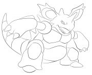 Printable 034 nidoking pokemon coloring pages