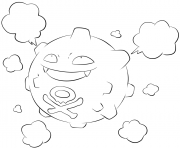 Printable 109 koffing pokemon coloring pages
