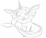 Printable 134 vaporeon pokemon coloring pages