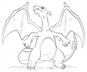 Printable charizard pokemon go coloring pages