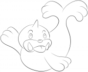 Printable 086 seel pokemon coloring pages