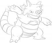 Printable 112 rhydon pokemon coloring pages