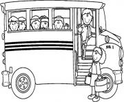 Print free school bus coloring pages