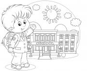 Print happy student school fist day coloring pages