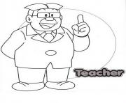 nobitas teacher coloring pages