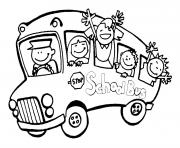 Print printable school bus coloring pages