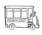Print transportation school bus coloring pages