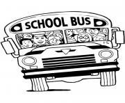 Print a cramped school bus coloring pages