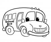 Print kids school bus coloring pages