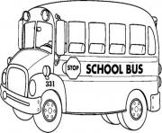 Print school bus transportation coloring pages