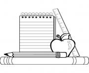 Print school supplies coloring pages