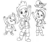 Printable jake and the neverland pirates team halloween coloring pages