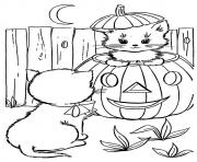 Print whit cat disney halloween coloring pages