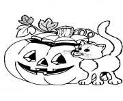 Printable Gato com abobora disney halloween coloring pages