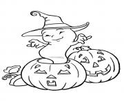 Pumpkin printable Dance disney halloween coloring pages