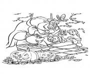 Print The beauty and the beast disney halloween coloring pages