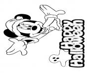 Print minnie mouse disney halloween coloring pages