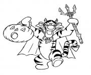 Printable Winnie the Pooh Friend Tiger disney halloween coloring pages