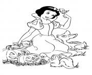Printable The snow white and pumpkins disney halloween coloring pages