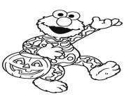 Printable Elmo halloween disney halloween coloring pages
