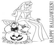 Print cute princess disney halloween coloring pages