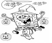 halloween spongebob coloring pages - photo#23