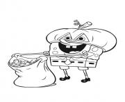 spongebob squarepants halloween coloring pages