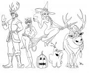 frozen halloween coloring pages