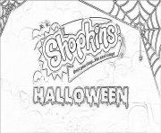 Printable happy halloween shopkins coloring pages