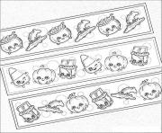 Printable shopkins halloween chocolate pumpkins kids coloring pages
