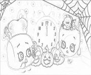 Printable shopkins halloween pumpkins coloring pages