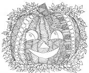 Printable pumpkin smile adult halloween coloring pages