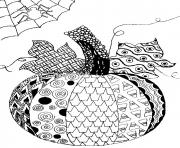 Printable pumpkin adult halloween coloring pages