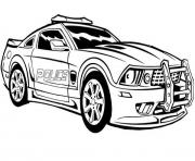 Print dodge charger police car hot coloring pages