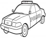 Print police car coloring pages