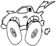 Printable race car 4x4 coloring pages