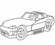Print sports car dodge viper coloring pages