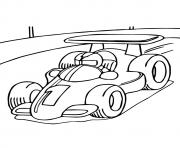 The Race Car a Coloring he a4