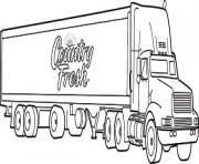 Print semi truck coloring pages