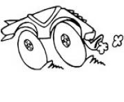 Print 4x4 car coloring pages