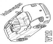 Print Volkswagen W12 Sports Car coloring pages