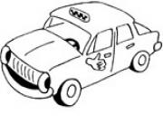 Print cool taxi car coloring pages