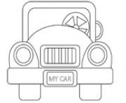 Print old car coloring pages