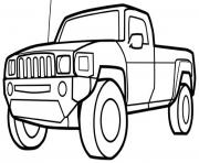 Print pickup truck car coloring pages